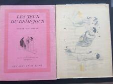 Mac Orlan curiosa Tirage de Tête 12 Lithographie Signé Vertès + Suite E/O 1926