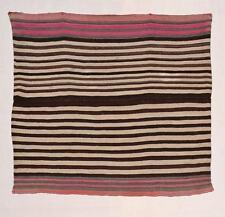 Incredible Navajo-like INDIAN BLANKET Original 19th c Wool Textile AYMARA TM9820