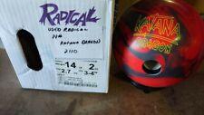 USED 14LB Radical KATANA DRAGON Bowling Ball 2110