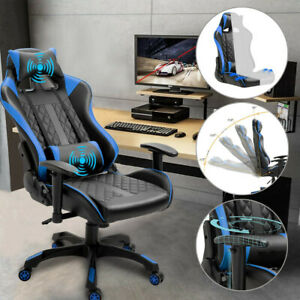 Ergonomic Gaming Computer Chair Swivel Office Chair Recliner Metal Frame Chairs