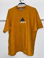 Vintage Adidas Retro Orange T-shirt men's size S/M