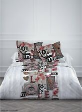 Housse de couette en polyester 240X220 cm + 2 taies d'oreiller LOVE YOU AND ME