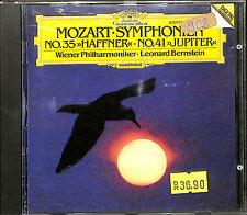 "Mozart: Symphonien 35 ""Haffner"" & 41 ""Jupiter"" / Bernstein (CD, Jul-1985, DG..."