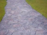 """Concrete texture stamp mat RUBBER for printing on cement plaster """"FLOWER"""""""