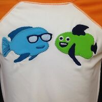 Gymboree Swim Shirt Long Sleeve Sunscreen Swimwear Fish Blue Green 18-24 Mos NWT