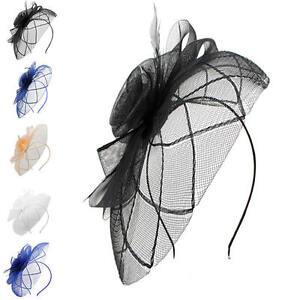 Finecy In - Ladies&Women Headband Clip Flower Wedding Races Hat Fascinator