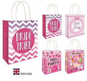HEN PARTY BAGS Bride to Be Girls Ladies Night Hen Stag Do Goodies Favors Pink UK