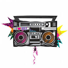 """Totally 80s Boombox Supershape Amscan Licensed 35"""" Foil Balloon Party Decoration"""