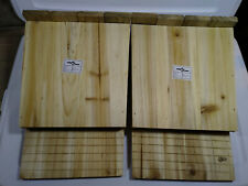 2x Bat House Wooden Single Chamber Handcrafted Nest Mosquito Control