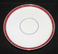 Christofle Porcelain China OCEANA ROUGE Red 7621 Saucer