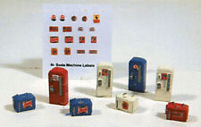 Railway Express Miniatures N Scale Detail Parts - Vintage Soda Machine Set