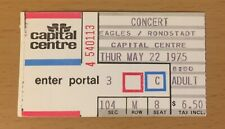 1975 Eagles Linda Rondstadt Washington Dc Concert Ticket Stub One Of These Night