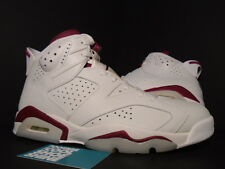 2015 Nike Air Jordan VI 6 Retro OFF WHITE NEW MAROON INFRARED 384664-116 NEW 9.5