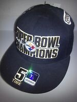 Pittsburgh Steelers Reebok 5-Time Super Bowl Champs Fitted Size 7 1/8 Cap Bell