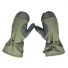 German Army Olive Green Winter Mittens - Winter Lined Faux Fur Military Surplus