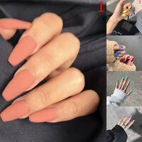 24Pcs False Nails Fashion Fake Toe Nails Tips Manicure Nail Art With Glue fo