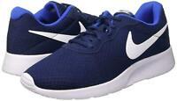Nike Mens Tanjun Running Training Sneakers Shoes Navy 812654 414 Size 11 NEW