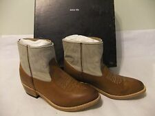 DOLCE VITA Camila Brown Leather Western Ankle Boot Bootie Size 8 NIB $235