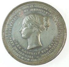 1858 Great Britain VISIT OF QUEEN VICTORIA TO BIRMINGHAM  White metal 46mm