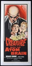 CREATURE WITH THE ATOM BRAIN Linen Backed Daybill Movie poster Richard Denning