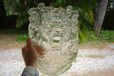 """Art Nouveau Lion Clear Acrylic Window Welcome Sign Plaque See Through 13""""X9"""""""