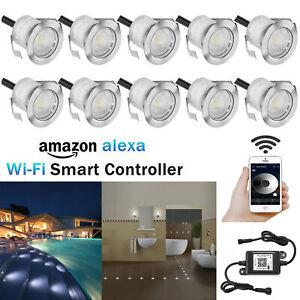 10x Smart Wifi Remote APP Control LED Decking Lights Garden Stair Lighting Lamp