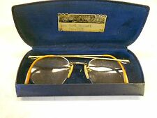 Vtg 1940's-'50's Eyeglasses With Case AO 1/10 12K Gold-filled Nice Condition!