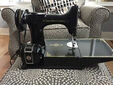 Vintage Singer 221-1 Featherweight Sewing Machine 1951 Centennial w Case Working