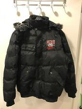 Entièrement neuf sans étiquette Homme ECKO noir à capuche en fourrure Bomber veste manteau taille XL
