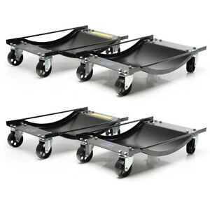 SGS Four Vehicle Positioning Wheel Dollies - 450kg Per Dolly