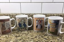 Mary Engelbreit Set of 4 Coffee Mugs With Different Designs