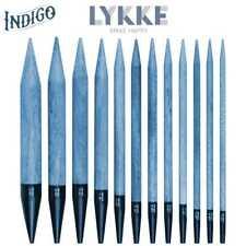 "Lykke :Driftwood Indigo Interchangeable Tips 5"": 4 Us / 3.50 mm / 12.5 cm"