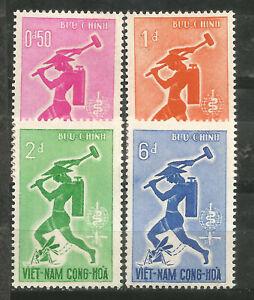 VIETNAM Scott# 185-188 ** MNH Lucha contra la Malaria 1962
