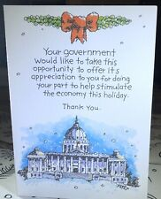 Funny Hilarious Christmas Greeting Card Government Joke Jolly Jingles for PMG