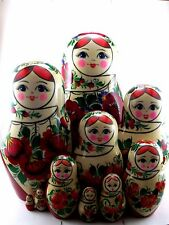 Nesting Dolls Russian Matryoshka Traditional Babushka Stacking Wooden New set 10