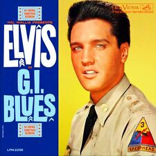 Elvis Presley - G.I. Blues 60's Vinyl LP Sticker, Magnet
