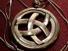 "1"" Triquetra Charm Pendant on an 18"" .925 Italian Silver Snake Chain"