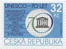 Czech stamp  - 70 Years of the UNESCO