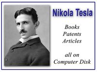 Rare Nikola Tesla Books on DVD - Electricity Patents Inventions Coil Science 279