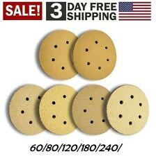 60 Pcs 6 inch 6 Hole Sanding Disc 60/80/120/180/240/320 Grit
