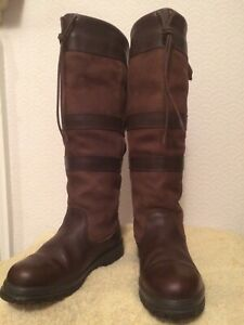 DUBARRY GALWAY EXTRA FIT BROWN WALNUT WATERPROOF LEATHER BOOTS UK 5.5 EU 39