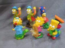 Set di 6 Burger Re 1990 i Simpson Campeggio Giocattoli Bart Lisa Completo Set+1