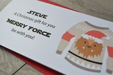 Personalised Christmas Money Wallet Pocket Gift Card Star Wars Chewbacca head