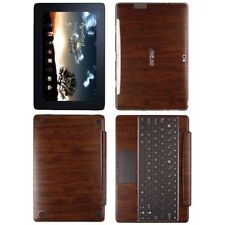 Skinomi Dark Wood Skin+SP for Asus EEE Pad Transformer Prime TF201+Keyboard