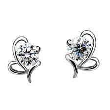 Womens Silver Butterfly Earrings 925 Sterling Stud Studs Fashion Jewellery Gift