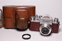 ZENIT C Brown body Soviet / Russian 35mm SLR Camera, Industar-50 (3.5/50)
