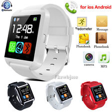 Bluetooth Wrist Smartwatch Relojes inteligent para Iphone Android samsung Blanco