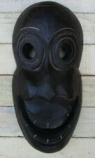 """AFRICAN STYLE 12"""" WOOD MASK HAND CARVED HOME DECOR TRIBAL ART"""