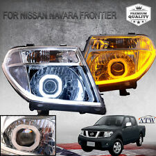 Fit 2005+ Nissan Navara D40 Frontier Clear Head Lamp Light Led Drl Hid Projector