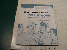 Vintage Booklet - ITS Your Story TEL IT NOW - OHIO OIL COMPANY 1958, i show all